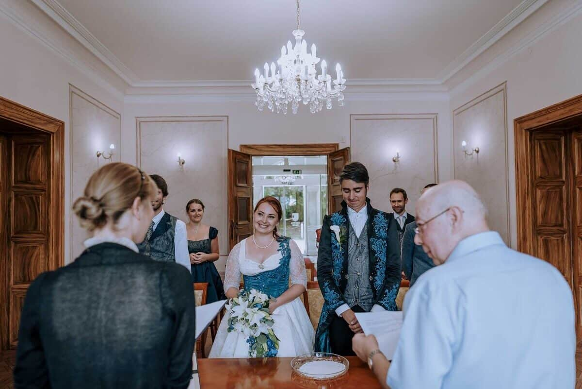 Weddings in Slovenia - Civil ceremony at Bled registry office