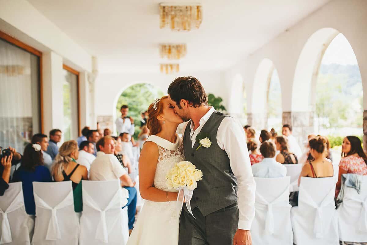 Weddings in Slovenia - civil ceremony at Vila Bled